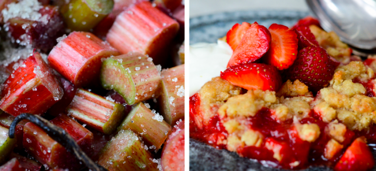 MUMS – rabarber+jordbær crumble!